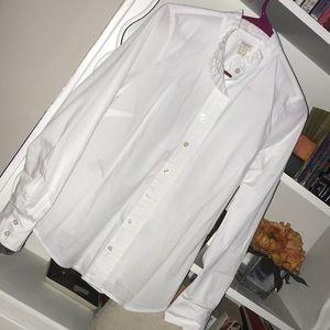 J. Crew Factory Ruffle Button Up Shirt